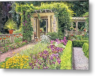 The Italian Gardens Hatley Park Metal Print by David Lloyd Glover