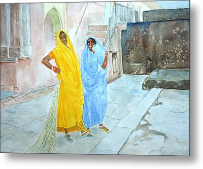 The Janitors Of Amber Fort Metal Print