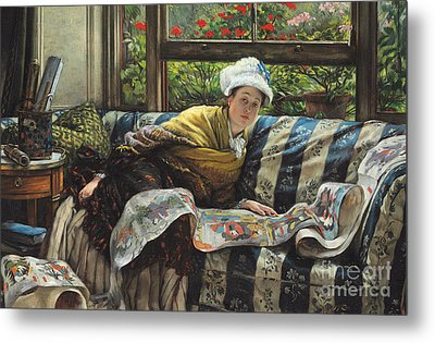 The Japanese Scroll Metal Print by Tissot