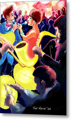 Metal Print featuring the digital art The Jazz Singers by Ted Azriel