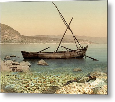 The Jesus Boat At The Sea Of Galilee  Metal Print