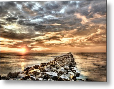 The Jetties At Ponce Inlet Metal Print