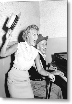 The Jimmy Durante Show, From Left Metal Print by Everett