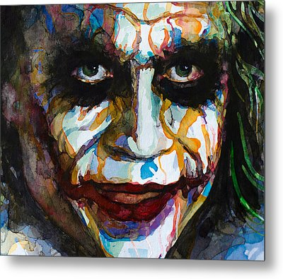 The Joker - Ledger Metal Print
