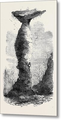 The Jug Rock In Southern Indiana 1869 Metal Print