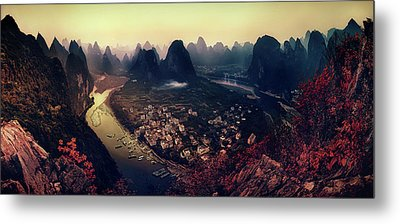 The Karst Mountains Of Guangxi Metal Print by Clemens Geiger