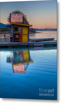 The Kayak Shack Morro Bay Metal Print