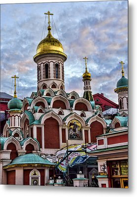 The Kazan Cathedral - Red Square - Moscow Russia Metal Print by Jon Berghoff