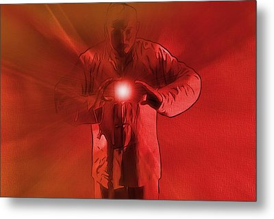 The Keeper Of The Light Metal Print by Dan Sproul
