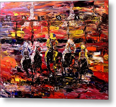 The Kentucky Derby 2013  And They're Off  Metal Print