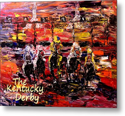 The Kentucky Derby - And They're Off Without Year  Metal Print by Mark Moore