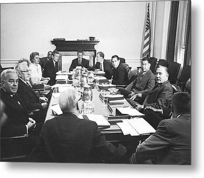 The Kerner Commission Metal Print by Underwood Archives