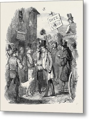 The Kilkenny Election, Canvassing For Votes Metal Print by English School