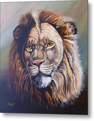 Metal Print featuring the painting The King by Anthony Mwangi