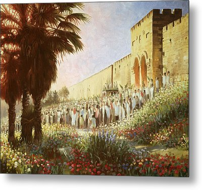 The King Is Coming  Jerusalem Metal Print by Graham Braddock