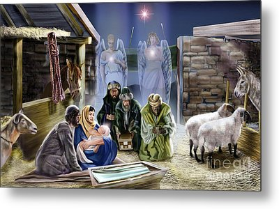 The King Of Kings Is Born Metal Print by Reggie Duffie