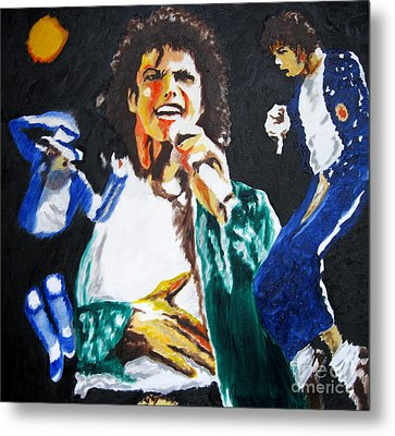 The King Of Pop Michael Jackson Metal Print by Ronald Young