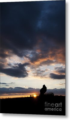 The King Stone Sunset Metal Print by Tim Gainey