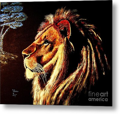 Metal Print featuring the painting the King by Viktor Lazarev