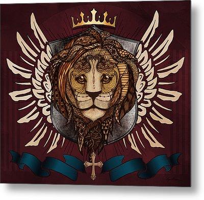 The King's Heraldry Metal Print