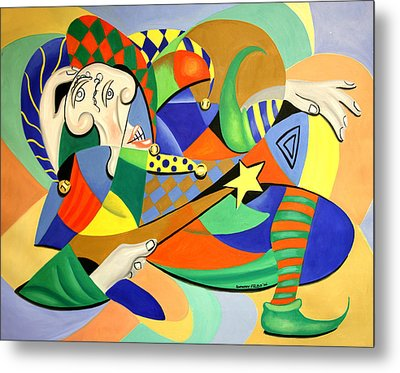 The Kings Jester Metal Print by Anthony Falbo