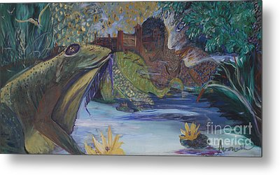 To Kiss A Frog Metal Print