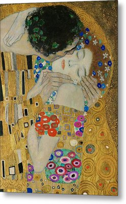 The Kiss Detail Metal Print by Gustav Klimt