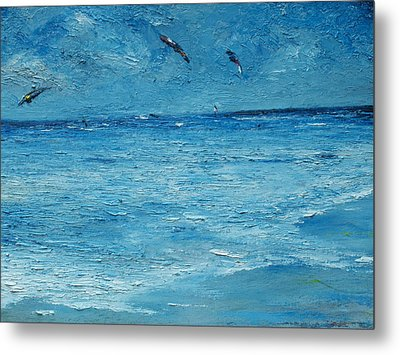 The Kite Surfers Metal Print by Conor Murphy