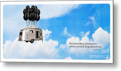The Knack Of Flying Metal Print by Edward Fielding