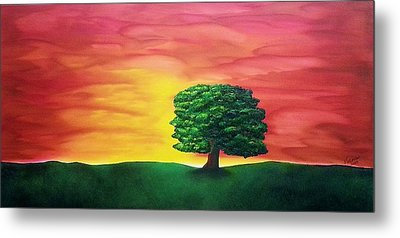 The Knowing Tree Metal Print by Valorie Cross