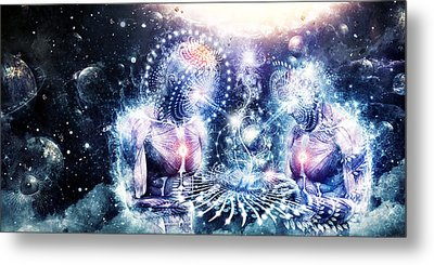 The Knowledge Of The Planets Metal Print by Cameron Gray