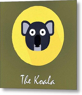 The Koala Cute Portrait Metal Print by Florian Rodarte