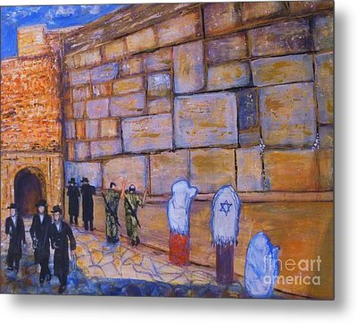 Metal Print featuring the painting The Kotel by Donna Dixon