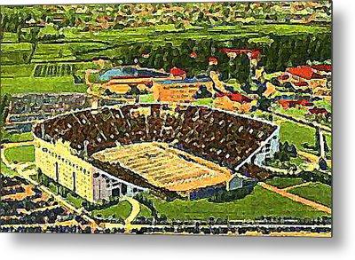 The L S U Stadium In Baton Rouge La Around 1940 Metal Print by Dwight Goss