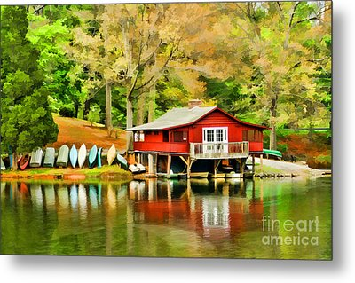 The Lake House Metal Print by Darren Fisher
