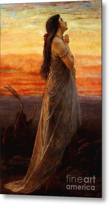 The Lament Of Jephthahs Daughter Metal Print by George Elgar Hicks
