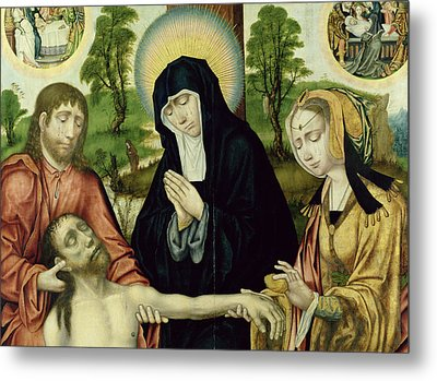 The Lamentation Of The Dead Christ, C.1520 Oil On Panel See 150818 And 150820 Metal Print