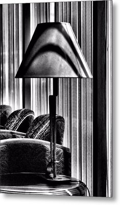 Metal Print featuring the photograph The Lamp In The Lobby by Bob Wall