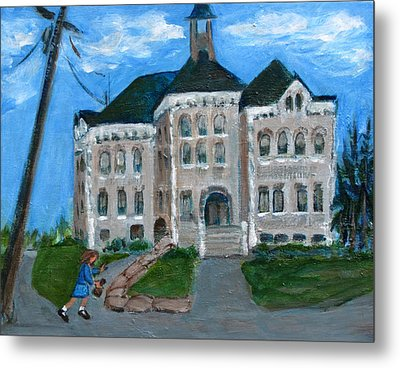 The Last Bell At West Hill School Metal Print by Betty Pieper