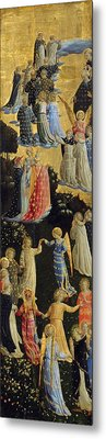 The Last Judgement - Left Wing Metal Print by Fra Angelico