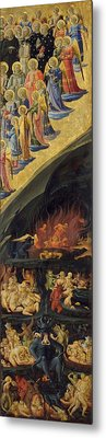 The Last Judgement - Right Wing Metal Print by Fra Angelico