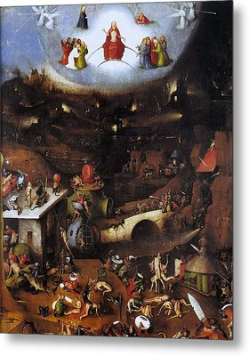 The Last Judgment - Central Panel Metal Print