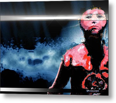 Metal Print featuring the digital art The Last 'man' On Earth Stands... by A Dx