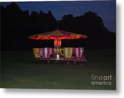 Metal Print featuring the photograph The Last Ride Of The Night by Linda Prewer