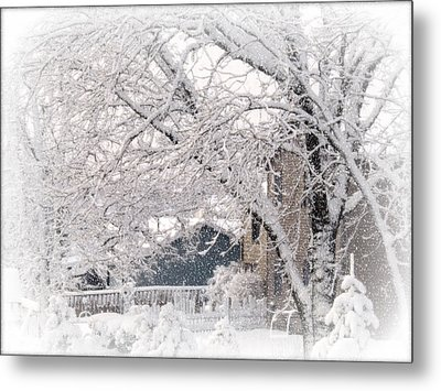 Metal Print featuring the photograph The Last Snow Storm by Kay Novy