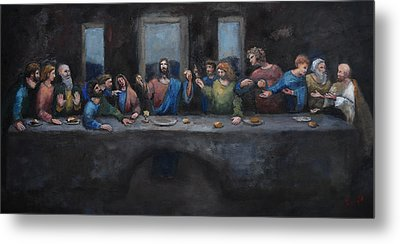 The Last Supper Metal Print by Carole Foret