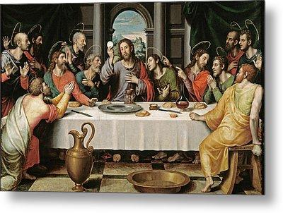 The Last Supper Metal Print by Joan de Joanes