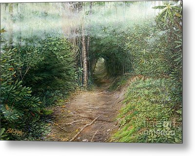Metal Print featuring the painting The Laurel Hells by Bob  George