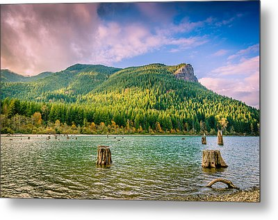 The Ledge Above The Lake Metal Print by Brian Xavier