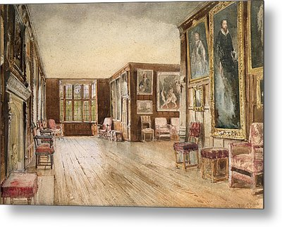 The Leicester Gallery, Knole House Metal Print by David Hall McKewan